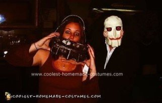 Homemade Reverse Bear Trap and Billy from Saw I Costume