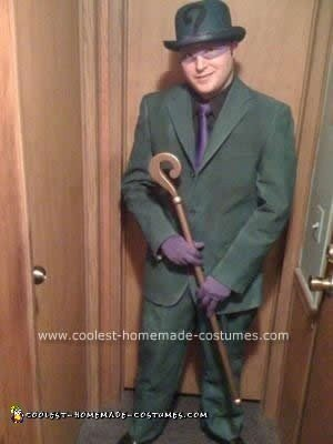 Homemade Riddler Halloween Costume