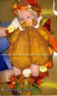 Homemade Roast Turkey Baby Costume