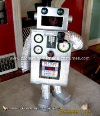Homemade Robot Boy Costume