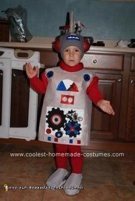 Homemade Robot Kid Costume Idea