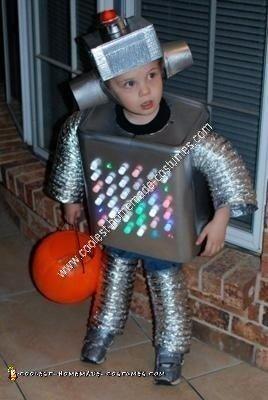 Homemade Robot Kids Halloween Costume