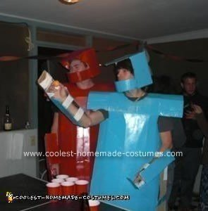 Homemade Rock 'Em Sock 'Em Robots Costume