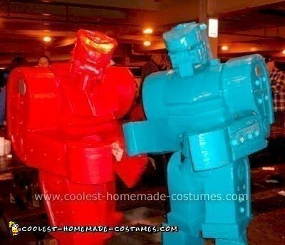Homemade Rock 'Em Sock 'Em Robots Costume
