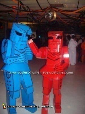 Homemade Rockem Sockem Robots Costume