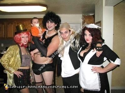 Homemade Rocky Horror Picture Show Group Costume