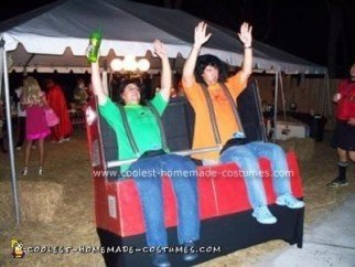 Homemade Roller Coaster of Love Couple Costume