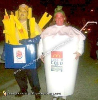 Homemade Romeo and Juliet of Fast Food Couple Costume