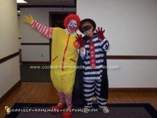 Homemade Ronald McDonald and Hamburgler Costume