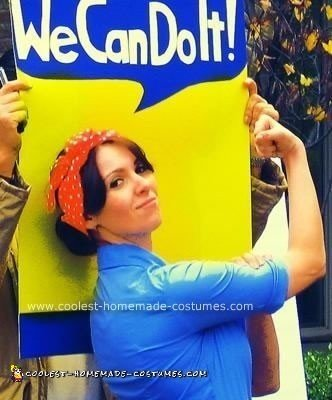 Coolest Homemade Rosie the Riveter Costume