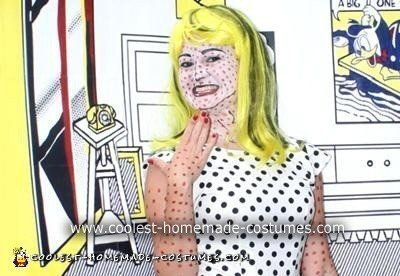 Homemade Roy Lichtenstein Comic Girl Costume