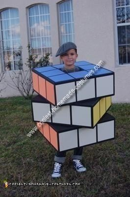 Homemade Rubik's Cube Costume