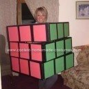 Homemade Rubik's Cube Halloween Costume