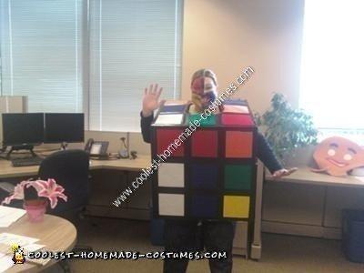 Homemade Rubik's Cube Halloween Costume Idea