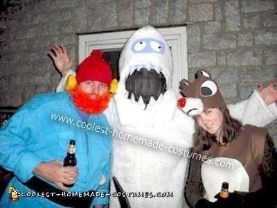 Homemade Rudolph the Red Nosed Reindeer Character Costumes