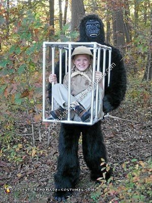 Homemade Safari Girl Captured by Gorilla Halloween Costume