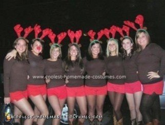 Homemade Santa's Reindeer Group Halloween Costume