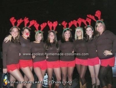 Homemade Santa's Reindeer Group Halloween Costume