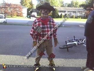 Homemade Scarecrow Boy Costume