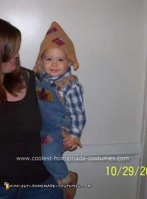Homemade Scarecrow Toddler Halloween Costume