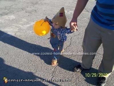 Homemade Scarecrow Toddler Halloween Costume