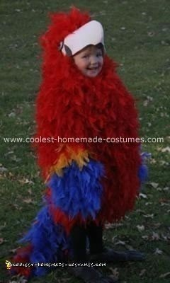 Homemade Scarlet Macaw Costume