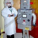 Homemade Scientist and his Robot Halloween Costumes