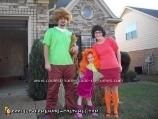 Homemade Scooby Doo Family Costume