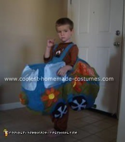 Homemade Scooby Doo Mystery Machine Costume