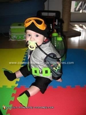 Homemade Scuba Diving Baby Costume