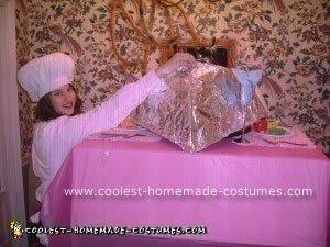 Homemade Server and Human Platter Couple Costume