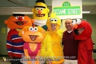 Homemade Sesame Street Group Halloween Costume Ideas