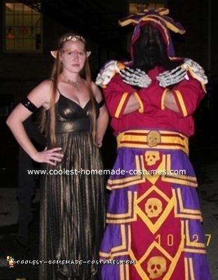 Homemade Shadow Priest in Dreadmist Costume