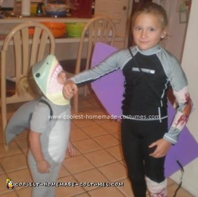 Homemade Shark Attack Costume