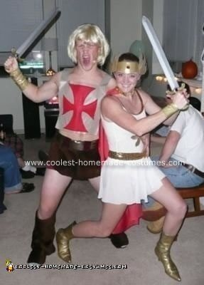 Homemade She-Ra and He-Man Couple Costume