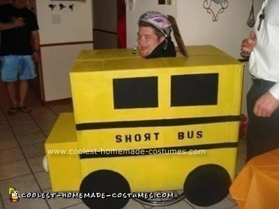 Homemade Short Bus Wheelchair Costume