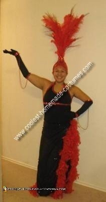 Homemade Showgirl Costume