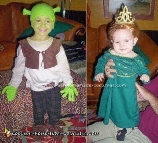 Homemade Shrek and Fiona Costumes