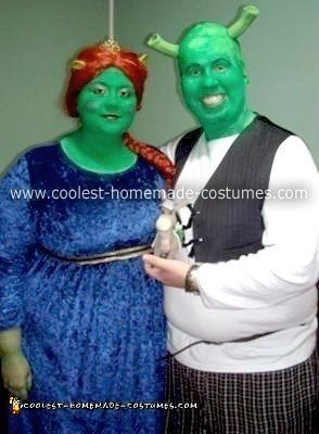 Homemade Shrek and Princess Fiona Couple Costume