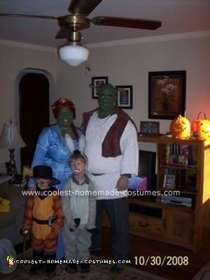 Homemade Shrek Family Costume