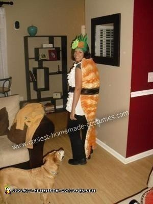Homemade Shrimp Nigiri Sushi Roll Creative Halloween Costume