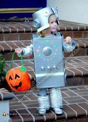 Homemade Silver Robot Halloween Costume