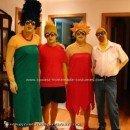 Homemade Simpsons Family Costume