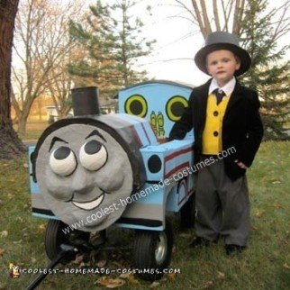 Homemade Sir Topham Hatt and Thomas the Tank Engine Costume