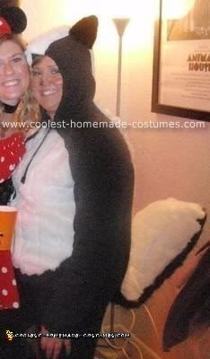 Homemade Skunk Costume