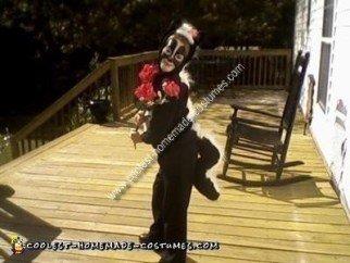 Homemade Skunk Flower Costume
