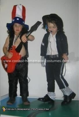 Homemade Slam and Michael Jackson Halloween Costumes