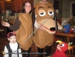 Homemade Slinky Dog Halloween Costume