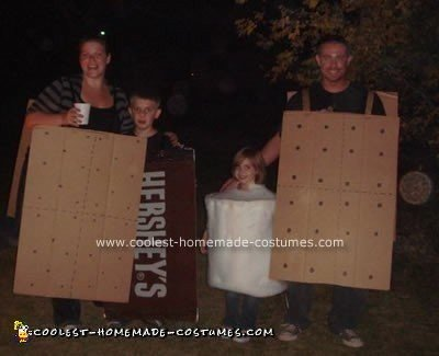 Homemade S'mores Family Halloween Costume