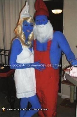 Homemade Smurfette and Papa Smurf